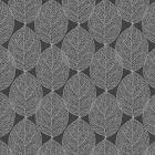 Tafelzeil-blad-nerven-modern-natuur-zwart-grijs-afwasbaar