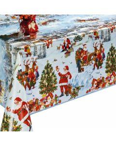 tafelzeil-kerst-kerstman-sneeuwlandschap-tafel-berschermen