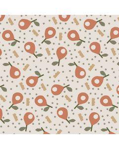captain-cook-tafelzeil-160cm-speels-afwasbaar-peren-fruit-papaya-rood-roos-zomer