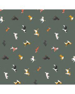 hond-honden-dieren-kaki-groen-tafellaken-tafelzeil-modern