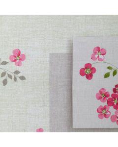 vierkant, bloemen, grijs